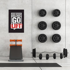 Ezposterprints - Go Lift | Gym Inspiration Motivation Quotes - 24x36 ambiance display photo sample