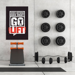 Ezposterprints - Go Lift | Gym Inspiration Motivation Quotes - 32x48 ambiance display photo sample
