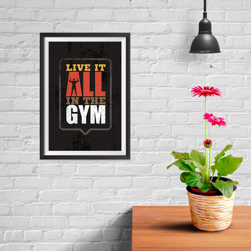 Ezposterprints - Live It | Gym Inspiration Motivation Quotes - 08x12 ambiance display photo sample