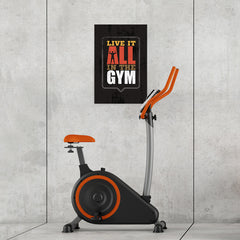 Ezposterprints - Live It | Gym Inspiration Motivation Quotes - 16x24 ambiance display photo sample