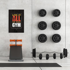 Ezposterprints - Live It | Gym Inspiration Motivation Quotes - 24x36 ambiance display photo sample