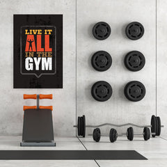 Ezposterprints - Live It | Gym Inspiration Motivation Quotes - 32x48 ambiance display photo sample