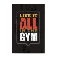 Ezposterprints - Live It | Gym Inspiration Motivation Quotes
