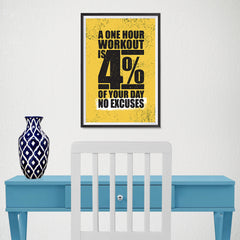Ezposterprints - No Excuses | Gym Inspiration Motivation Quotes - 12x18 ambiance display photo sample