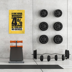 Ezposterprints - No Excuses | Gym Inspiration Motivation Quotes - 24x36 ambiance display photo sample