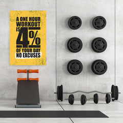 Ezposterprints - No Excuses | Gym Inspiration Motivation Quotes - 32x48 ambiance display photo sample