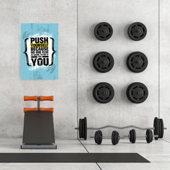Ezposterprints - Push Yourself | Gym Inspiration Motivation Quotes - 24x36 ambiance display photo sample