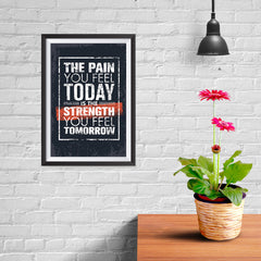 Ezposterprints - The Pain | Gym Inspiration Motivation Quotes - 08x12 ambiance display photo sample