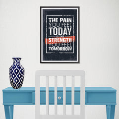 Ezposterprints - The Pain | Gym Inspiration Motivation Quotes - 12x18 ambiance display photo sample