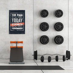 Ezposterprints - The Pain | Gym Inspiration Motivation Quotes - 24x36 ambiance display photo sample