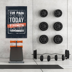 Ezposterprints - The Pain | Gym Inspiration Motivation Quotes - 32x48 ambiance display photo sample