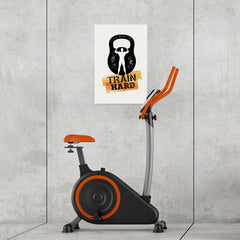 Ezposterprints - Train Hard | Gym Inspiration Motivation Quotes - 16x24 ambiance display photo sample