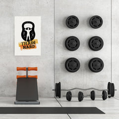 Ezposterprints - Train Hard | Gym Inspiration Motivation Quotes - 24x36 ambiance display photo sample