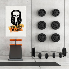 Ezposterprints - Train Hard | Gym Inspiration Motivation Quotes - 32x48 ambiance display photo sample