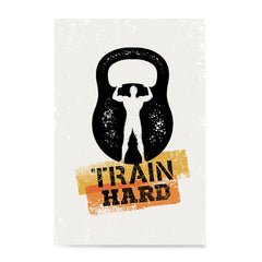 Ezposterprints - Train Hard | Gym Inspiration Motivation Quotes