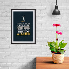 Ezposterprints - When You Feel | Gym Inspiration Motivation Quotes - 08x12 ambiance display photo sample
