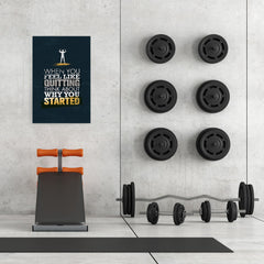 Ezposterprints - When You Feel | Gym Inspiration Motivation Quotes - 24x36 ambiance display photo sample