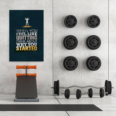 Ezposterprints - When You Feel | Gym Inspiration Motivation Quotes - 32x48 ambiance display photo sample