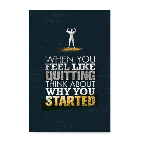 Ezposterprints - When You Feel | Gym Inspiration Motivation Quotes