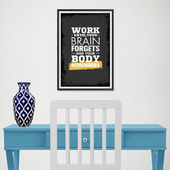 Ezposterprints - Work Until | Gym Inspiration Motivation Quotes - 12x18 ambiance display photo sample