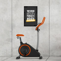 Ezposterprints - Work Until | Gym Inspiration Motivation Quotes - 16x24 ambiance display photo sample
