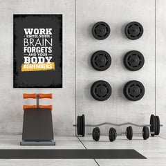 Ezposterprints - Work Until | Gym Inspiration Motivation Quotes - 32x48 ambiance display photo sample