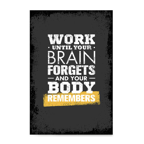 Ezposterprints - Work Until | Gym Inspiration Motivation Quotes