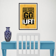 Ezposterprints - Go Lift 2 | Gym Inspiration Motivation Quotes - 12x18 ambiance display photo sample