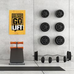 Ezposterprints - Go Lift 2 | Gym Inspiration Motivation Quotes - 24x36 ambiance display photo sample
