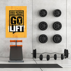 Ezposterprints - Go Lift 2 | Gym Inspiration Motivation Quotes - 32x48 ambiance display photo sample