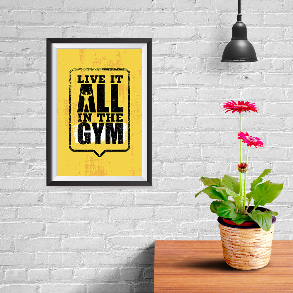 Ezposterprints - Live It 2 | Gym Inspiration Motivation Quotes - 08x12 ambiance display photo sample