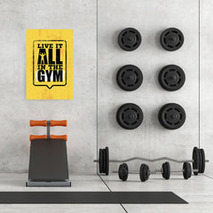 Ezposterprints - Live It 2 | Gym Inspiration Motivation Quotes - 24x36 ambiance display photo sample