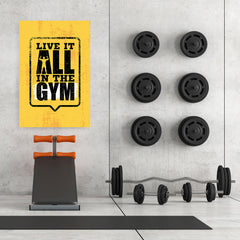 Ezposterprints - Live It 2 | Gym Inspiration Motivation Quotes - 32x48 ambiance display photo sample