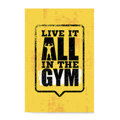 Ezposterprints - Live It 2 | Gym Inspiration Motivation Quotes