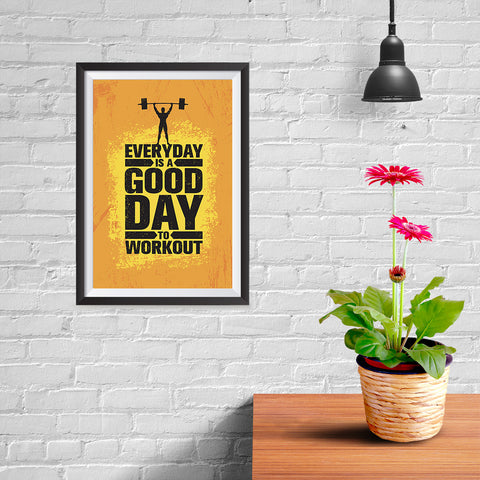 Ezposterprints - Good Day | Gym Inspiration Motivation Quotes - 08x12 ambiance display photo sample