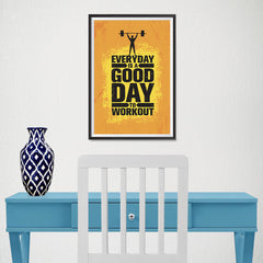 Ezposterprints - Good Day | Gym Inspiration Motivation Quotes - 12x18 ambiance display photo sample