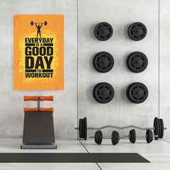 Ezposterprints - Good Day | Gym Inspiration Motivation Quotes - 32x48 ambiance display photo sample