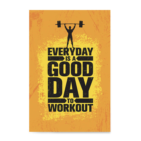 Ezposterprints - Good Day | Gym Inspiration Motivation Quotes