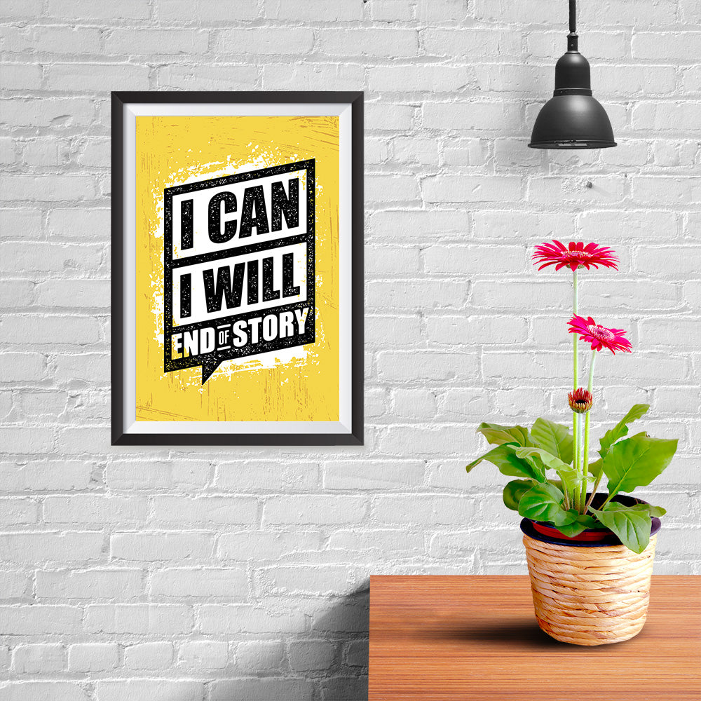 Ezposterprints - I Can | Gym Inspiration Motivation Quotes - 08x12 ambiance display photo sample