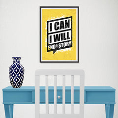 Ezposterprints - I Can | Gym Inspiration Motivation Quotes - 12x18 ambiance display photo sample