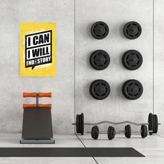 Ezposterprints - I Can | Gym Inspiration Motivation Quotes - 24x36 ambiance display photo sample