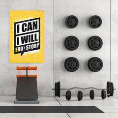 Ezposterprints - I Can | Gym Inspiration Motivation Quotes - 32x48 ambiance display photo sample