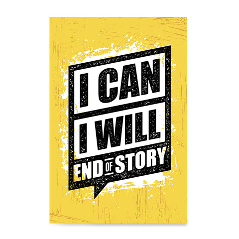 Ezposterprints - I Can | Gym Inspiration Motivation Quotes