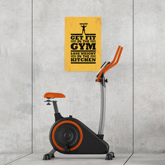 Ezposterprints - Get Fit 2 | Gym Inspiration Motivation Quotes - 16x24 ambiance display photo sample