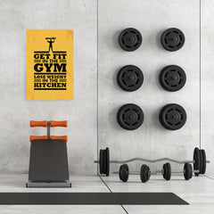 Ezposterprints - Get Fit 2 | Gym Inspiration Motivation Quotes - 24x36 ambiance display photo sample