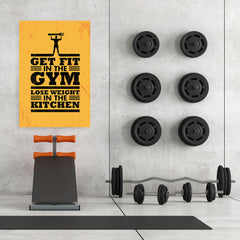 Ezposterprints - Get Fit 2 | Gym Inspiration Motivation Quotes - 32x48 ambiance display photo sample
