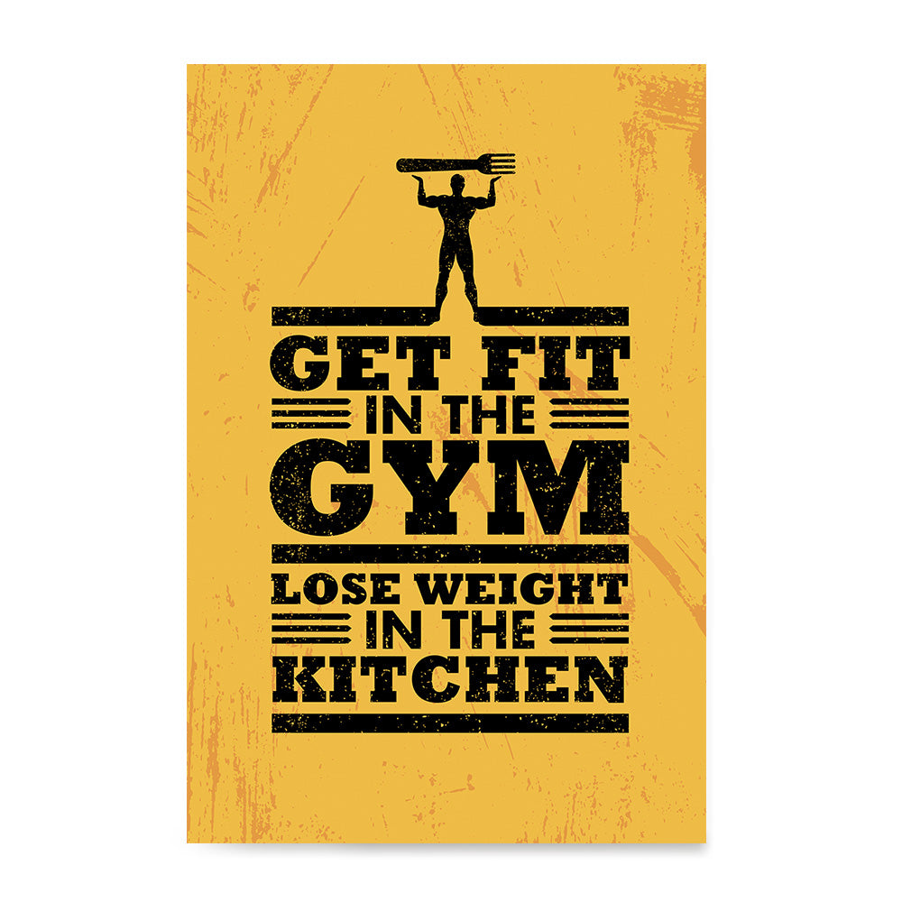 Ezposterprints - Get Fit 2 | Gym Inspiration Motivation Quotes