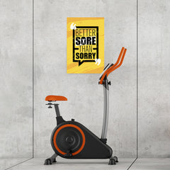 Ezposterprints - Sorry | Gym Inspiration Motivation Quotes - 16x24 ambiance display photo sample