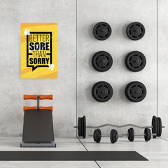 Ezposterprints - Sorry | Gym Inspiration Motivation Quotes - 24x36 ambiance display photo sample