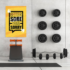 Ezposterprints - Sorry | Gym Inspiration Motivation Quotes - 32x48 ambiance display photo sample
